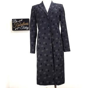Vintage Harve Benard Black & White Blazer Duster